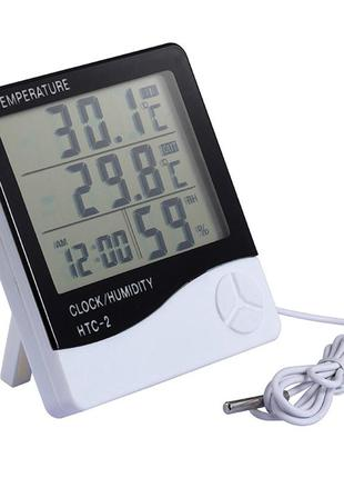 Термометр гигрометр метеостанция HTC-2 термогигрометр выносной да