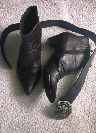 #розвантажуюсь трендовые кожаные ботильоны полусапоги ботинки ...
