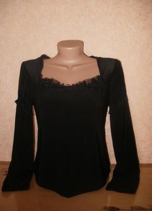 Блуза кофточка / хорошо как базовая под жакет или пиджак комби...