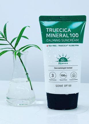 Солнцезащитный крем some by mi truecica mineral 100 calming su...