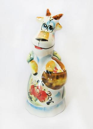 Коза з кошиком,керамічна
