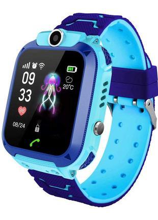 Смарт-часы Smart  Watch Q12 GPS с камерой Голубой