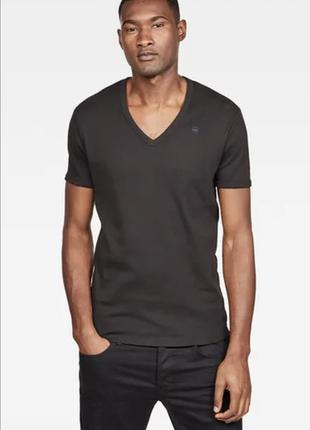 Базовая футболка, футболка с v вырезом, оригинал g-star