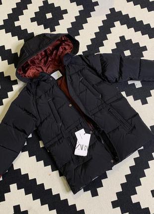 Зимняя куртка, пуховик зимний на мальчика, пух утки, натуральн...