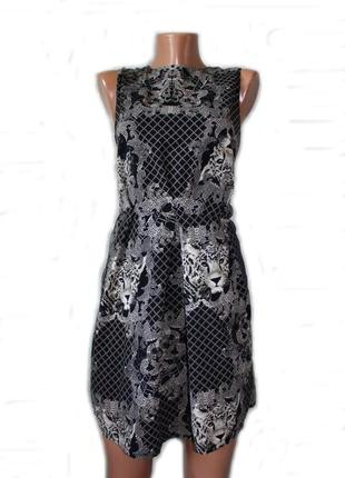 Платье короткое в оригинальный принт леопардов, pussycat, 12