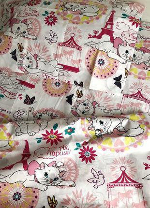 Детское постельное белье полуторное кошечка мари в париже