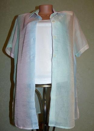 Блуза двойка: майка топ и накидка - рубашка, классика оригинал...