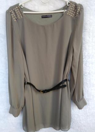 Платье - туника цвета хаки atmosphere