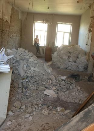 Демонтаж стен. Все виды демонтажа. Разнорабочие. Вывоз мусора