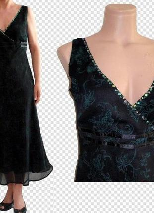 Платье / сарафан /можно как вечернее/черный текстурный шифон в...