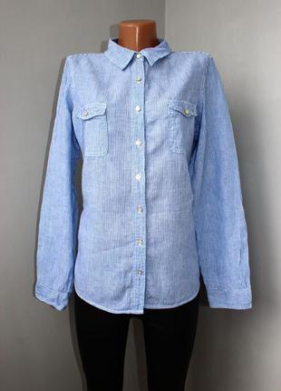 Рубашка по типу бойфренд в тонкую вертикальную полоску /натура...