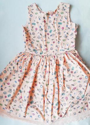 Милое, прикольное розовое мини платье бэби долл, baby doll, ро...