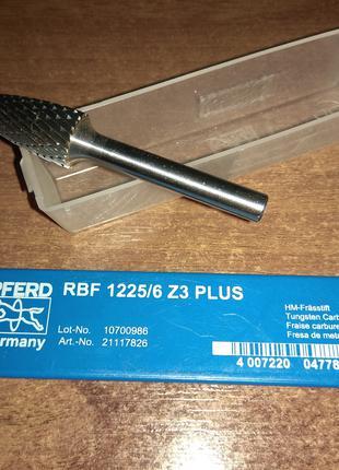 Бор-фреза Pferd RBF 1225/6 Z3 Plus