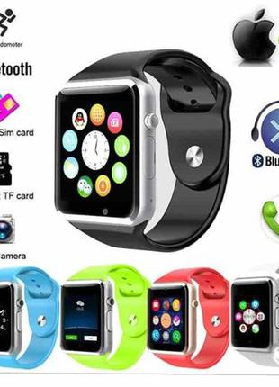 Умные часы Smart watch A-1 Часы-телефон +камера +SD +SIM и под...
