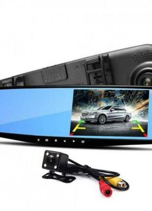 Видеорегистратор-зеркало DVR Full HD, камера заднего вида в По...