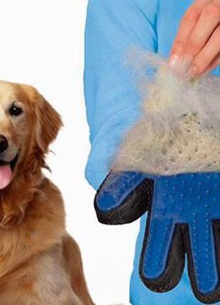 Перчатка для животных TRUE TOUCH для вычесывания шести собак и...