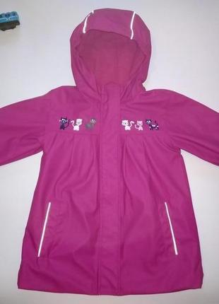 Куртка на флисе дождевик непромокаемая x-mail 104-110