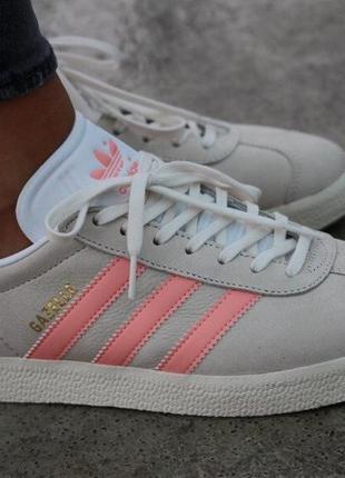 Кожаные фирменные кроссовки adidas gazelle