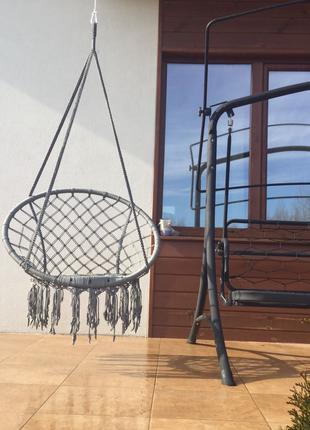 Подвесное кресло Handmade техникой Macrame.