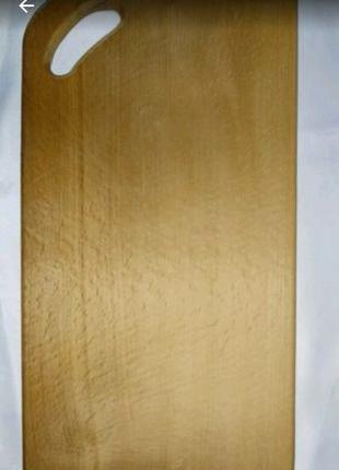 Доска разделочная кухонная буковая прямоугольная.