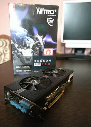Видеокарта Radeon RX 580 8 Gb Sapphire nitro +. Топ в линейке.