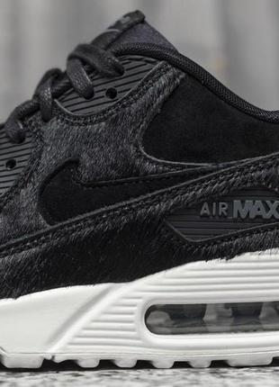 Новые кроссовки nike air max 90 замша+пони us6,5  оригинал