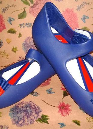 Туфли балетки пвх стиль мэри джейн синие