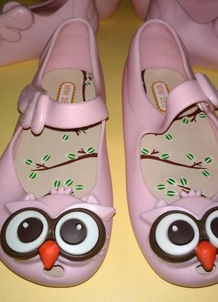 Туфли балетки совушки пвх в стиле мини мелиссы розовые