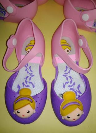 Сандалии босоножки happy стиль мини-мелисса  пвх сиренево-розовые