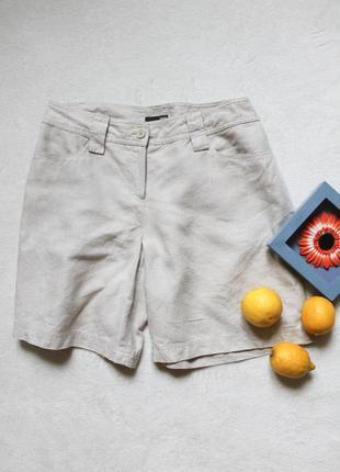 Льняные шорты бермуды от h&m, размер l ❤️