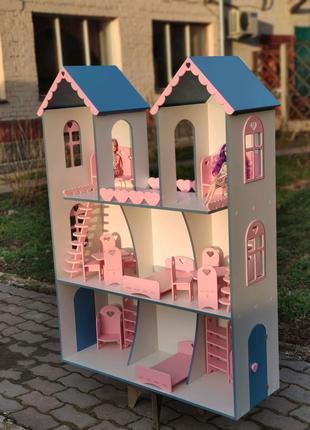 В наличии! Кукольный домик модель Твинс ляльковий будинок Барби