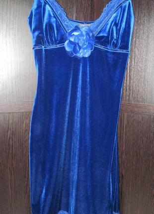 Платье велюровое вечернее коктельное comely размер 40 м