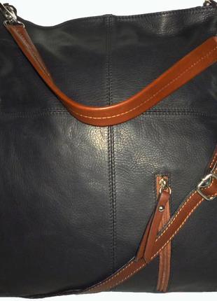 Стильная вместительная сумка натуральная кожа borse in pelle и...