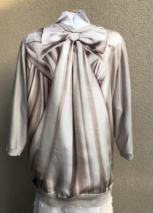 Шелк100%,комбинирован кардиган,кофта реглан,блуза трикотаж,люк...