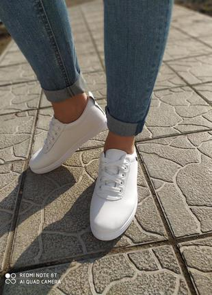 Белые кроссовки весна-лето!