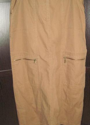 Юбка джинс коттон длинная размер 40