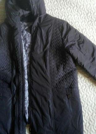 Демисезонная курточка большого размера с подкладкой