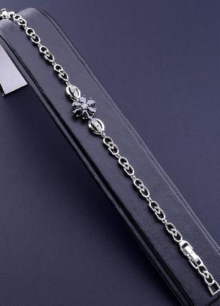 Браслет 'xuping' фианит 17 см. (родий) 0871300