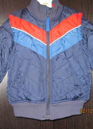 Куртка h&m 2 в одном куртка/ жилетка 92 рост