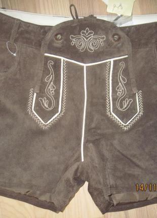 Waldschütz замшевые шорты вышивка размер 42