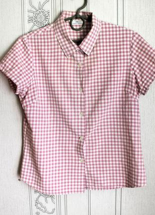 Женская рубашка в клеточку, рубашка в клетку
