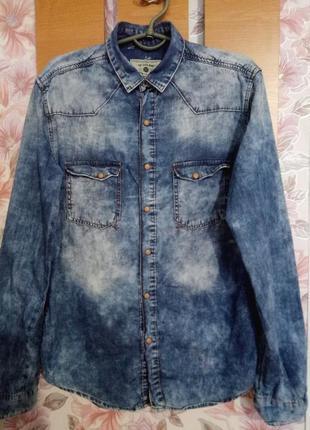 Мужская джинсовая рубашка zara men
