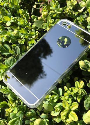 Зеркальный чехол/бампер на iphone/айфон 6+. зеркало