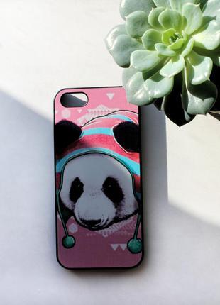 Панда черный чехол/бампер на iphone/айфон 5/5s