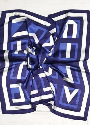 Легкий платок косынка синий в наличии