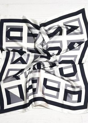 Шелковый платок косынка белый в наличии
