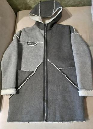 Стильное пальто кардиган женский демисезонный