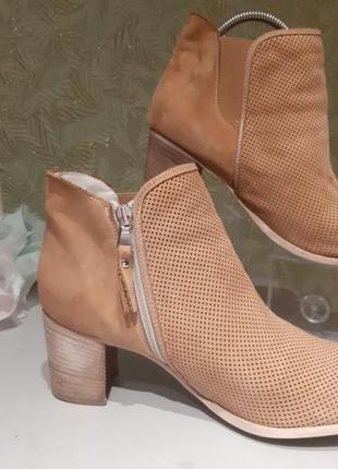 Vera pelle оригинальные итальянские полусапожки ботинки женские