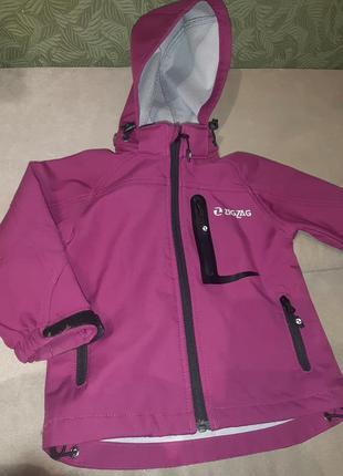 Оригинальная детская демисезонная термо куртка на девочку 92с