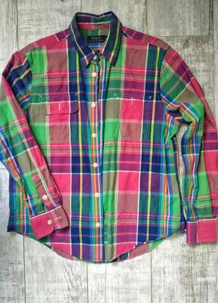 Женская рубашка в клетку от polo ralph lauren оригинал!